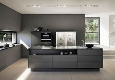 home page bespoke kitchens from yorkshire based kc design house Modern Grey Kitchen, Red Kitchen, Black Kitchens, Open Plan Kitchen, Modern Kitchen Design, Interior Design Kitchen, Home Kitchens, Kitchen Dining, Kitchen Decor