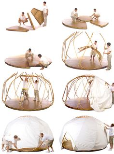 The Nomad Yurt by EcoShack (NOTCOT) outdoor wicker...   Wicker Furniturewww.wickerparadise.com