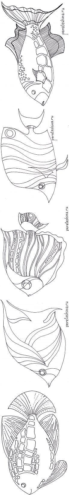 Stencils fish from Irina Pereleshin | Batik and I