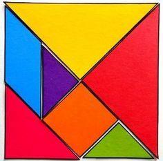 Former le carre a l aide du tangram sans voir la realisation Tangram Puzzles, Math Patterns, Cycle 2, Folder Games, Numeracy, Ms Gs, Simple Art, Pattern Blocks, Teaching Math
