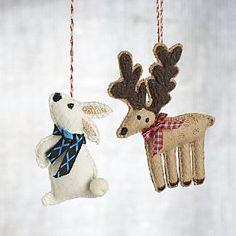 Felt Winter Animal Ornaments