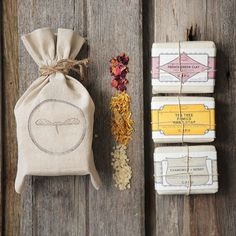 Mother's Day Soap Gift Set, (3) 4.5oz handmade all natural organic soap bars, wrapped in seed paper on Etsy, $27.00