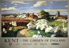Kent, The Garden of England. Vintage BR (SR) Travel poster by Frank Sherwin…