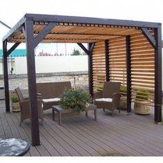 Backyard Ideas with Pergola . Backyard Ideas with Pergola . Vinyl Pergola, Wood Pergola, Modern Pergola, Pergola Canopy, Outdoor Pergola, Backyard Pergola, Backyard Landscaping, Outdoor Spaces, Outdoor Living