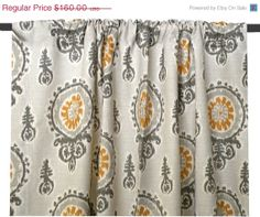 Fall SALE Drapery Panel 50x84 Michelle Ikat in by elisabethmichael, $112.00