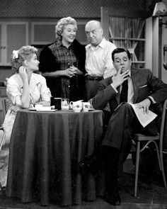 """I Love Lucy"" cast. I love the look on Viv's face! She looks like she's up to something."