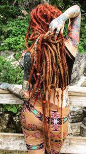 dreadlock styles for women Tattoo Girls, Girl Tattoos, Dreadlocks Girl, Hippie Dreads, Rasta Girl, Beautiful Dreadlocks, Dreadlock Styles, Dreadlock Hairstyles, Tattoo Models