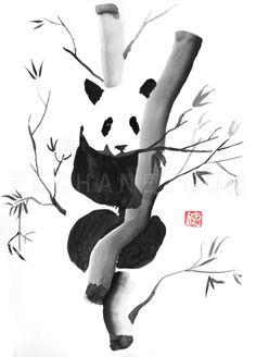 Panda-painting-sumie