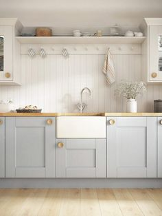 Browse images of country Kitchen designs: Laura Ashley Range. Find the best phot… Browse images of country Kitchen designs: Laura Ashley Range. Find the best photos for ideas & inspiration to create your perfect home. Cottage Kitchens, Home Kitchens, Small Kitchens, Cottage Style Bathrooms, New Kitchen, Kitchen Decor, Kitchen Ideas, Blue Shaker Kitchen, Small Kitchen Diner