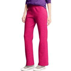 Hanes Women's Fleece Petite Sweatpant, Size: Medium, Pink