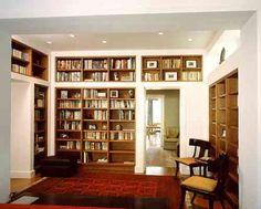 bibliothèque verticale à étagères en bois