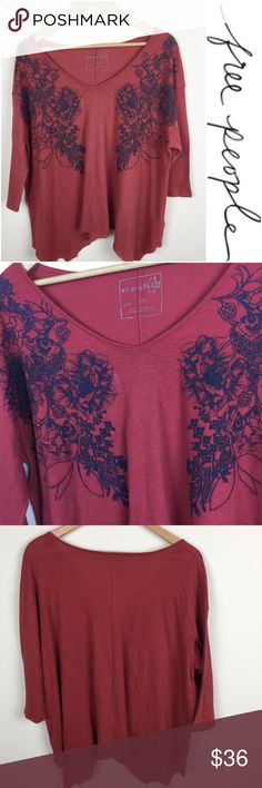 "Free People Swing Top Free People Swing Top. 3/4 sleeves.  Size large    length 26""  pit to pit 22""  pre-owned - great condition. No visible flaws.  (171) Free People Tops"