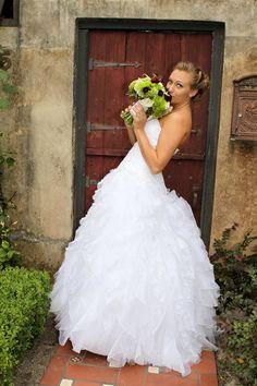 DB #Bride Samantha C. Wearing David's Bridal Collection Style CH515