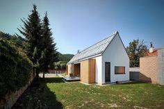 Jaro Krobot design the Wooden Brick House set near the forrest in Lučatín Slovakia - CAANdesign