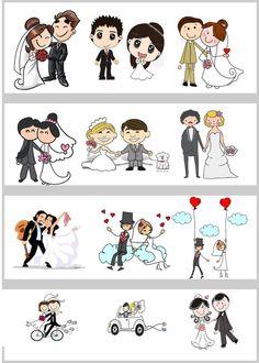 Noivinhos Personalizados Desenho Desenho De Noivos Casamento