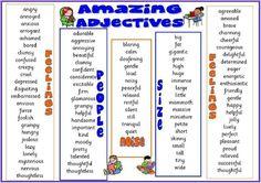 Amanzing adjetives