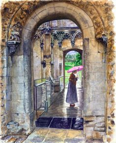 Art Print featuring the painting Lady Chapel by John D Benson Glastonbury Abbey, Joseph Of Arimathea, Strange Tales, John The Baptist, Woman Painting, Prints For Sale, Fine Art America, Around The Worlds, England