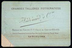 Pau Audouard, estudi de la Rambla del Mig (Biblioteca de Catalunya) Barcelona, Ephemera, Carte De Visite, Barcelona Spain