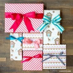 Printable Gingerbread House Wrapping Paper