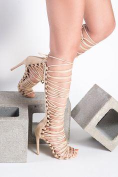 f2a2de7156 Ava Nude Multistrap Lace Up Heel Nude Bodycon Dresses, Lace Up Heels, Ava,
