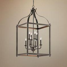 """Kichler Larkin 24"""" Wide Olde Bronze Foyer Pendant Light -  for the formal living room"""