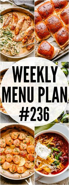 WEEKLY MENU PLAN ( - A delicious collection of dinner side dish and dessert recipes to help you plan your weekly menu and make life easier for you! Argula Recipes, Kabasa Recipes, Coliflower Recipes, Healthy Crockpot Recipes, Kitchen Recipes, Dessert Recipes, Dinner Side Dishes, Dinner Menu, Dinner Ideas
