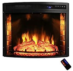 AKDY 30 in. Freestanding Black Electric Fireplace Insert with Curved Tempered Glass and Remote – The Home Depot – Freestanding fireplace wood burning Free Standing Electric Fireplace, Black Electric Fireplace, Electric Fireplace Heater, Wall Mount Electric Fireplace, Tv Over Fireplace, Small Fireplace, Fireplace Design, Fireplace Ideas, Fireplace Heater Insert