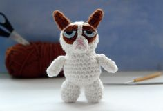 Grumpy Cat crochet pattern for Grumpy Cat amigurumi by tinyAlchemy, $3.50
