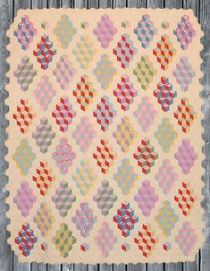 antique quilt blocks | ... Quilter » Blog Archive » Vintage Tumbling Blocks Quilt Inspiration