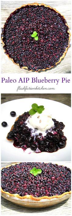 Paleo AIP Wild Maine Blueberry Pie from Flash Fiction Kitchen