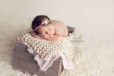 Newborn Photography Prop Blanket cream knit newborn basket bucket bowl filler stuffer