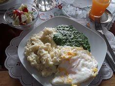 Rahmspinat mit Kartoffelpüree und Spiegelei