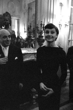 Audrey Hepburn in Paris, France, March 03, 1955.