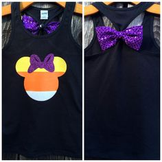 Candy Corn Minnie Bow Back Tank Top, Candy Corn, Minnie Mouse, Bow Back Tank, Mickey's Not So Scary Halloween party, Disney Wear, Disney Family Shirts, Disneyland, Disney World