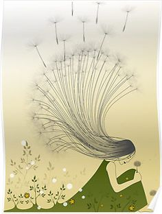 """""""the girl with dandelion hair"""" by franzi  via redbubble"""