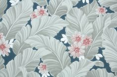1940's Vintage Wallpaper Gray and White by HannahsTreasures