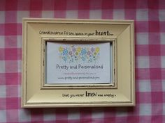 Personalised shabby chic photo frame with a quote for special grandchildren ~ a perfect gift for nan and grandad ❤️ www.pretty-and-personalised.com