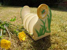 Carlton Ware Buttercup Art Deco toast rack