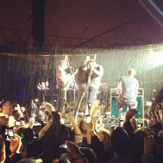 Rain London 01.06.12 #oxfamontour #coldplay #oxfamGROW #GROW