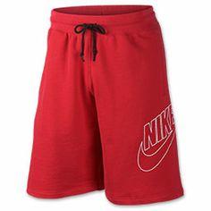 Men's Nike Intenational HBR Explode Shorts| FinishLine.com | Challenge Red/White