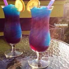 Check out the Galaxy Cocktail! This mystical wonder is absolutely delicious and looks stunning! For the recipe, visit us here: http://www.tipsybartender.com/blog/2015/9/3/the-galaxy-cocktail