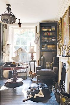 Liddie and Harry Holt-Harrison's Georgian farmhouse provides the perfect showcase for their unusual collections of antiques and taxidermy