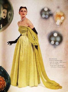 BALENCIAGA jardin des modes 1950