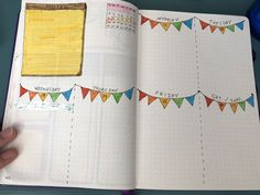 Another weekly spread within the colorful month of June. #bulletjournal #bujo #doodles #bujoweekly