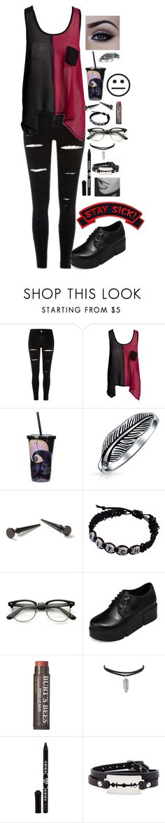 """""""HQ"""" by hold-on-til-may ❤ liked on Polyvore featuring Club L, Disney, Bling Jewelry, Topman, yeswalker, Burt's Bees, Anna Sui, McQ by Alexander McQueen and Sourpuss"""