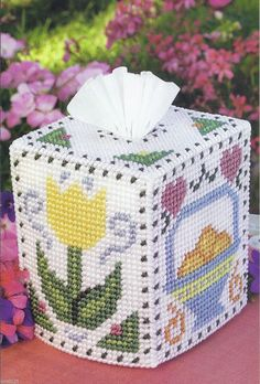 Country Seasons Tissue Box Cover Pattern Only Plastic Canvas Pattern   eBay 2/2