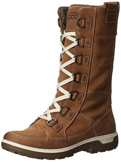 ECCO Women's Gora Tall Boot Hiking Inspired: Trendy warm-lined high-cut  uppers in a mix of suede and oiled nubuck leather perfect for cold weather  days.