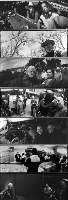 Since the 1980s, Jeff Bridges has been taking set shots and behind-the-scene photos from all his films with his unique panoramic Widelux camera.