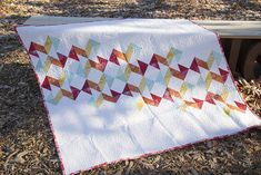 Geometric Slide Quilt from Vintage Quilt Revival