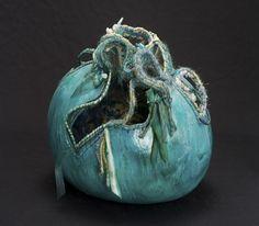 "Pots of ""gold""....send someone a basket of gems on a handmade gourd sachel"